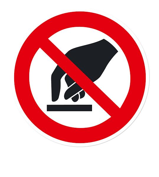 Verbotszeichen Berühren verboten nach DIN EN ISO 7010 - P 010