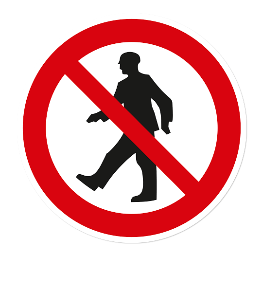 Verbotszeichen Durchgang verboten