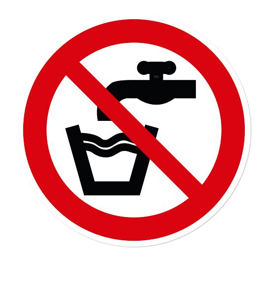 Verbotszeichen Kein Trinkwasser nach DIN EN ISO 7010 - P 005