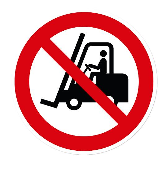 Verbotszeichen Für Flurförderzeuge verboten nach DIN EN ISO 7010 - P 006