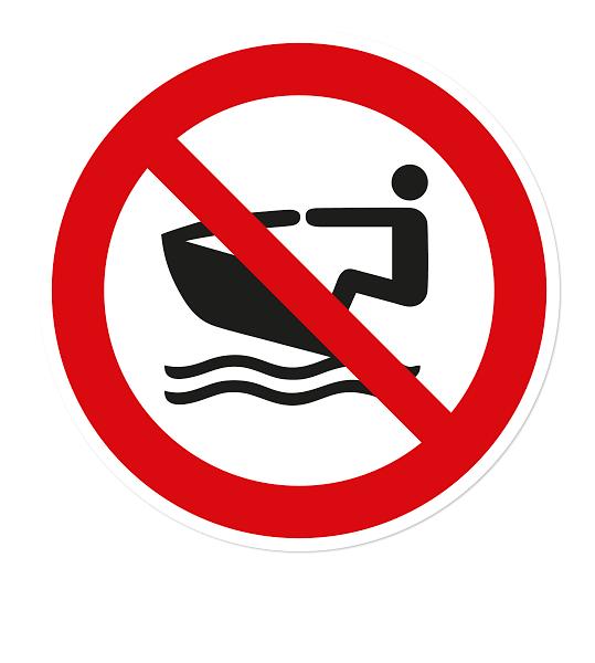 Verbotszeichen Jet-Ski verboten nach DIN ISO 20712 - WSP010