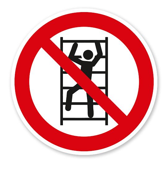 Verbotszeichen Aufsteigen / Klettern verboten nach DIN EN ISO 7010 - P 009
