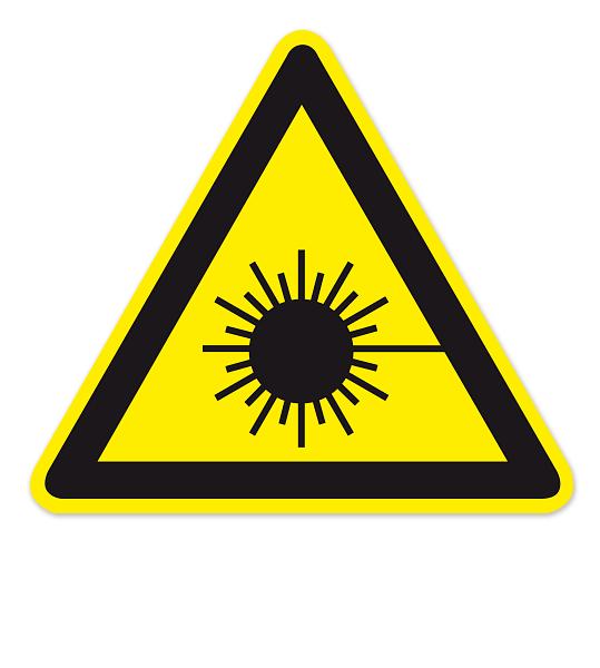 Warnzeichen Warnung vor Laserstrahl