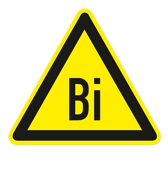 Warnzeichen Warnung vor Bismuth