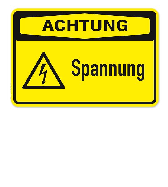 Warnschild Achtung - Spannung.