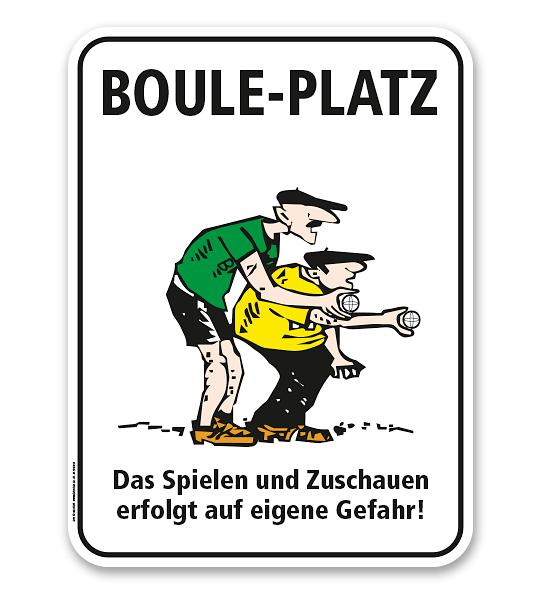 Schild Bouleplatz - SP