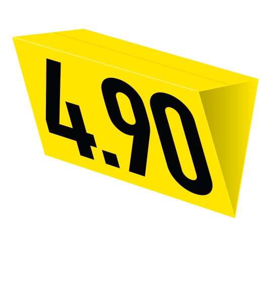 Deckenhänger gelb – Prismaform (nur für den Innenbereich)
