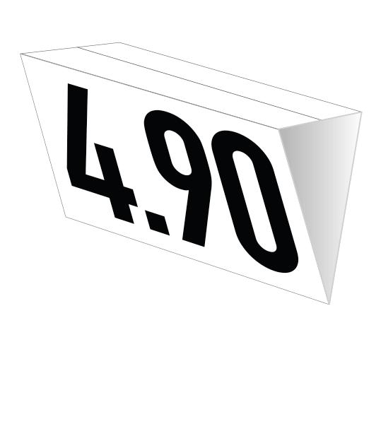 Deckenhänger weiß – Prismaform (nur für den Innenbereich)
