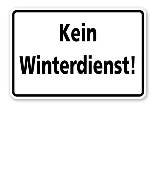 Textschild Kein Winterdienst - TX