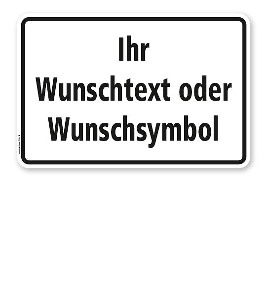 Textschild individuell - mit Ihrem Wunschtext - TX