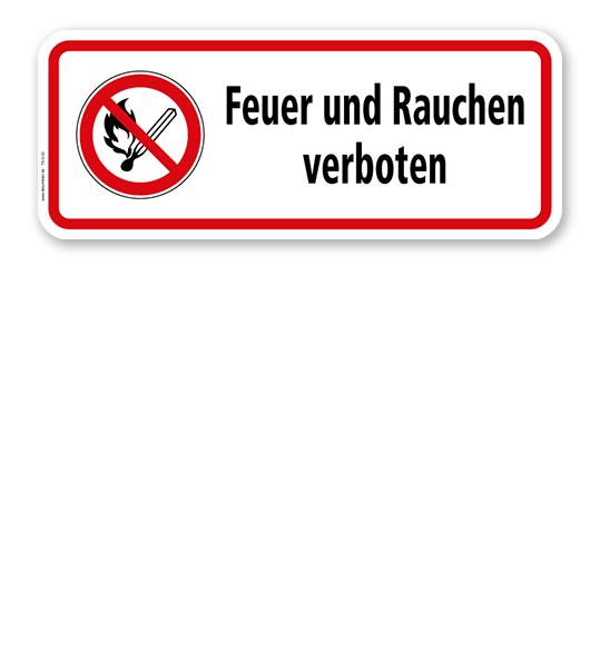 Hinweisschild Feuer und Rauchen verboten - TX