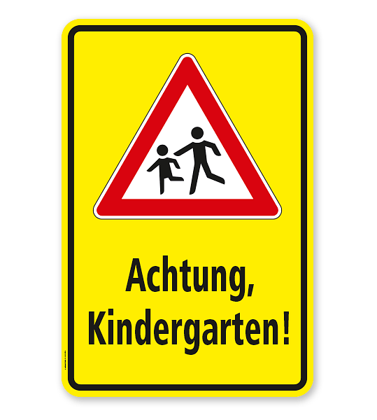 Kombischild / Kinderschild Achtung Kindergarten