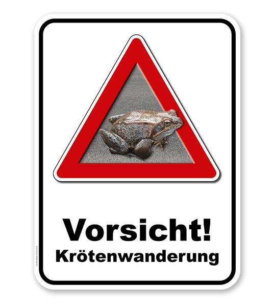 Kombischild Vorsicht Krötenwanderung - 2
