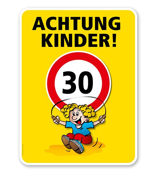 Kinderschild Achtung Kinder 30er Zone - VSS