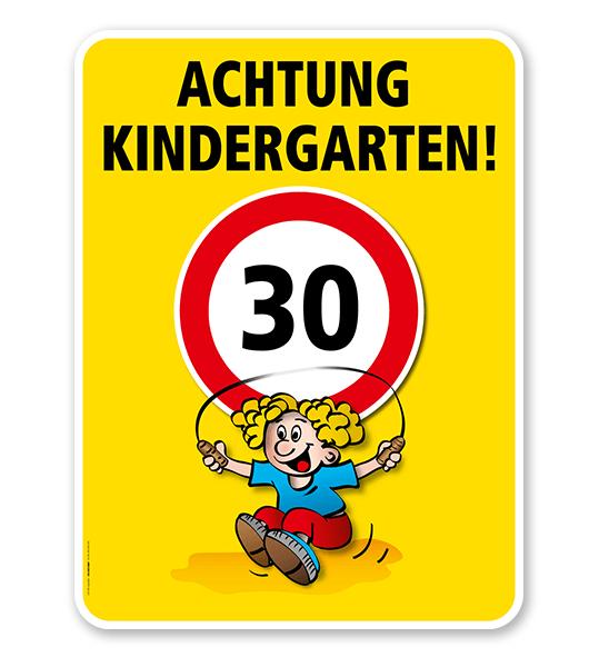 Kinderschild Achtung Kindergarten 30er Zone - VSS