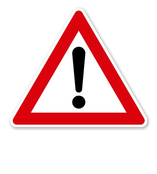 Allgemeine Gefahrenstelle - Verkehrsschild VZ 101
