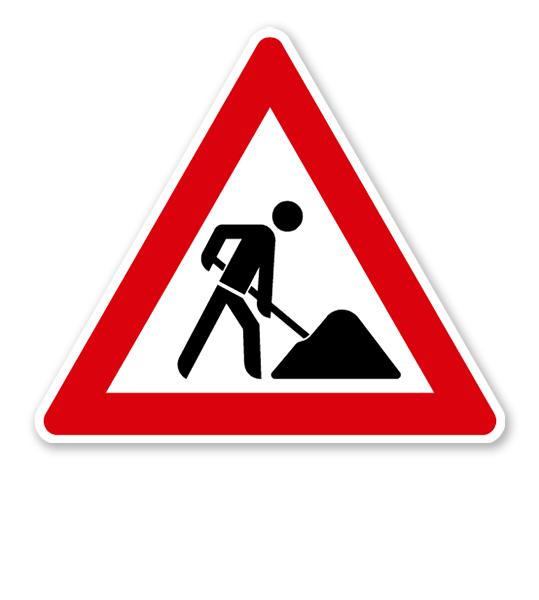 Arbeitsstelle / Baustelleschild - Verkehrsschild VZ 123