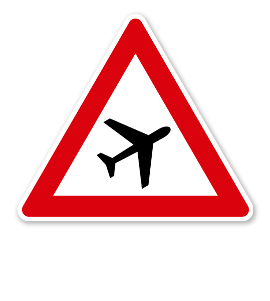 Flugbetrieb, Aufstellung links - Verkehrsschild VZ 145-21