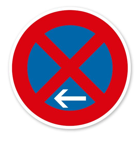 Absolutes Halteverbot Ende, Linksaufstellung - Verkehrsschild VZ 283-11