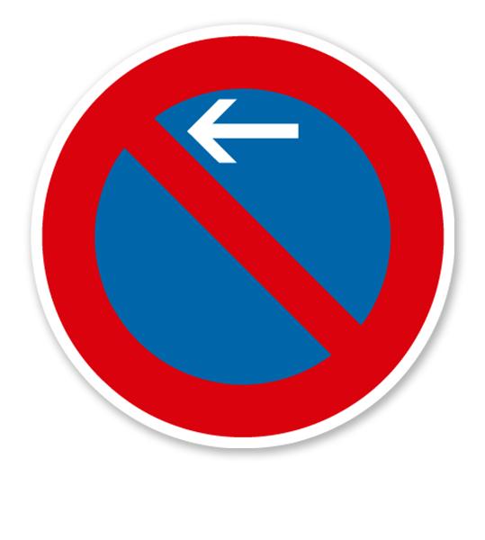 Eingeschränktes Halteverbot Anfang, Rechtsaufstellung - Verkehrsschild VZ 286-10