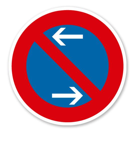 Eingeschränktes Halteverbot Mitte, Rechtsaufstellung - Verkehrsschild VZ 286-30
