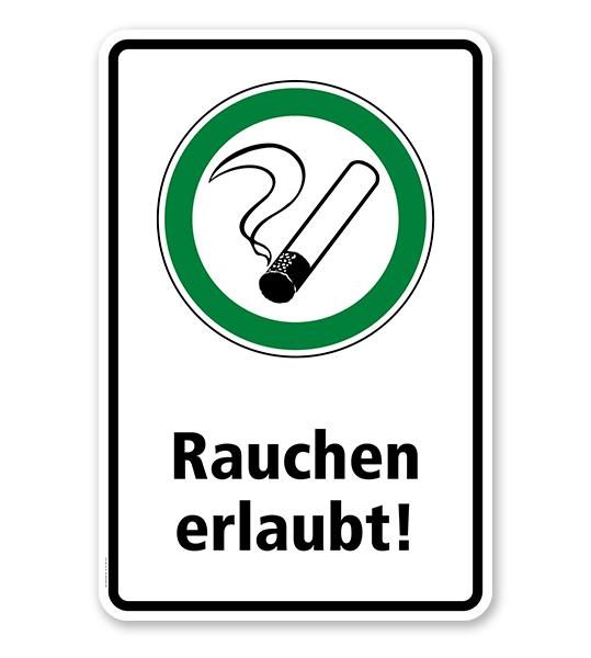 Hinweisschild Rauchen erlaubt - WH