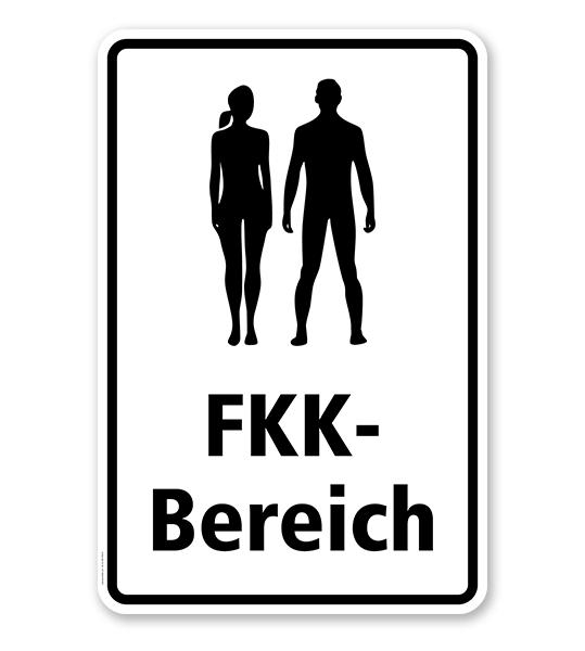 Hinweisschild FKK-Bereich - WH