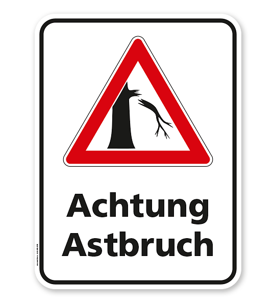 Hinweisschild Achtung Astbruch - WH