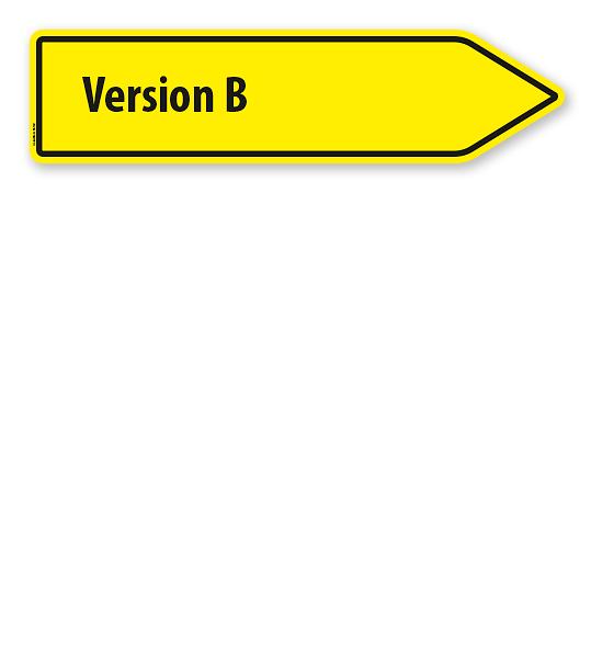 Pfeilschild / Pfeilwegweiser individuell - Version B - WH