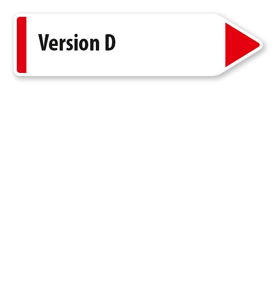 Pfeilschild / Pfeilwegweiser individuell - Version D - WH