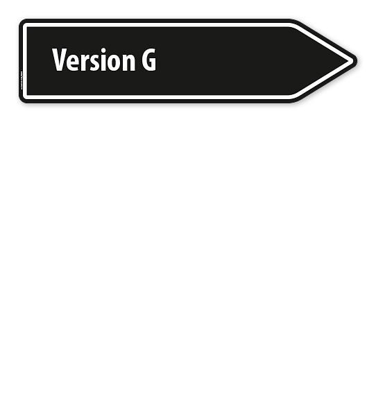 Pfeilschild / Pfeilwegweiser individuell - Version G - WH