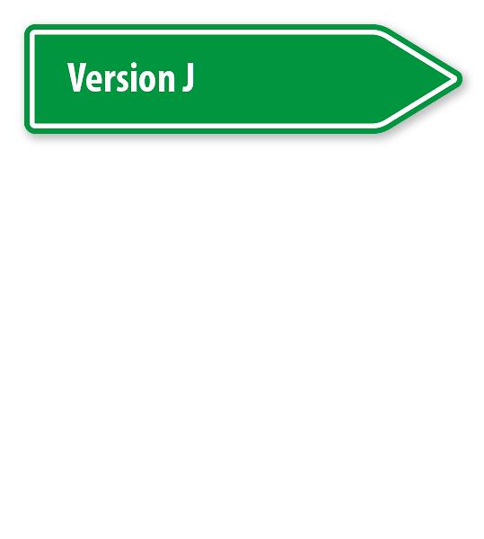 Pfeilschild / Pfeilwegweiser individuell - Version J - WH