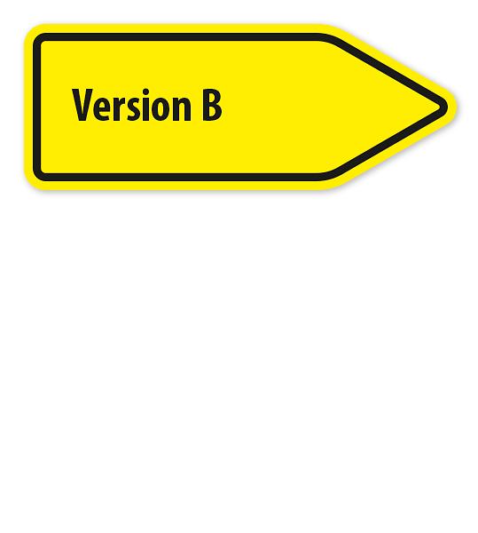 Pfeilschild / Pfeilwegweiser individuell - Version B hoch - WH