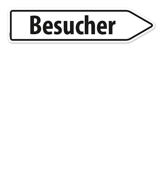 Pfeilschild / Pfeilwegweiser Besucher - WH