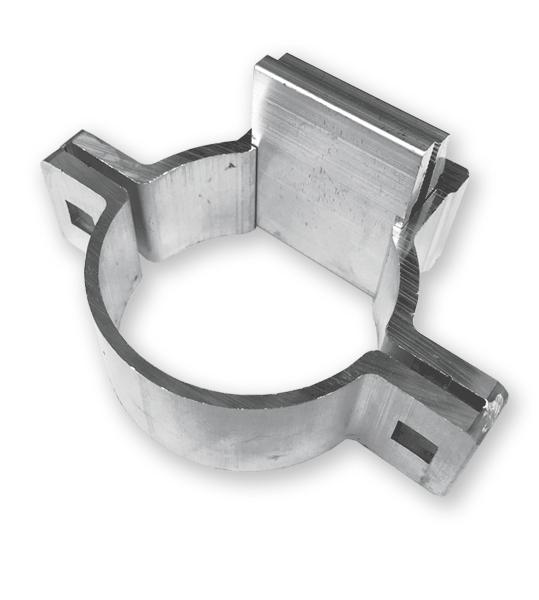 Rohrschelle für Schilderschutzrahmen (2 Schellen je Rahmen erforderlich)