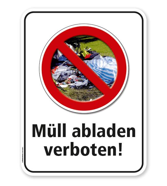 kombinationsschild naturschutzschild m ll abladen ist verboten g gw. Black Bedroom Furniture Sets. Home Design Ideas