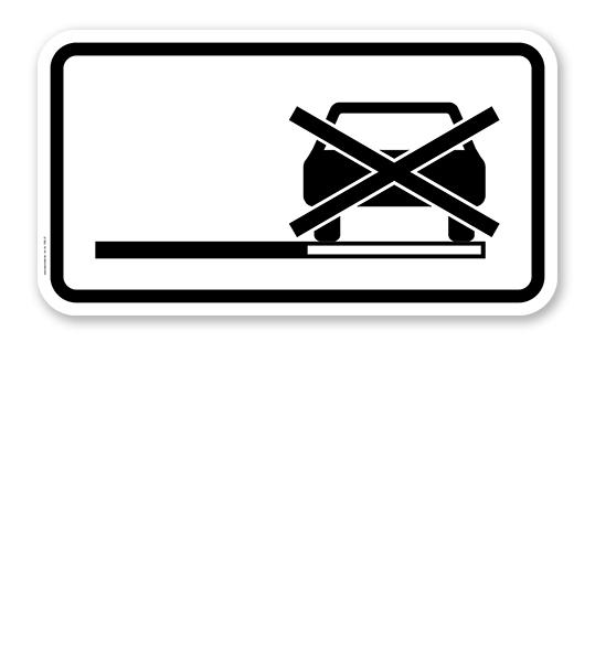 zusatzschild halteverbot auch auf dem seitenstreifen verkehrsschild vz 1060 31 nach stvo. Black Bedroom Furniture Sets. Home Design Ideas