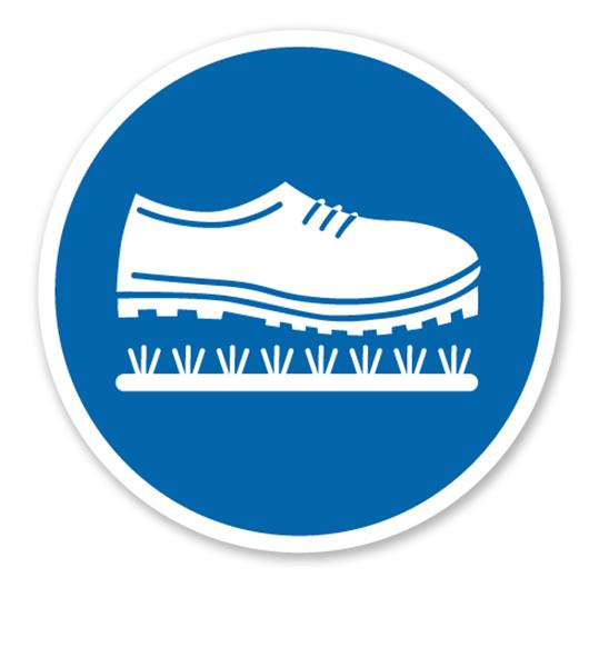 Gebotszeichen Schuhe Reinigen Praxisbewahrt