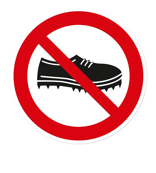 schuhe verboten schild