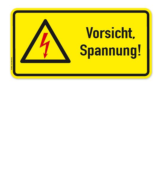 Warnschild Vorsicht Spannung