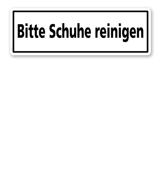 Textschild Bitte Schuhe Reinigen Zur Betriebsauszeichnung