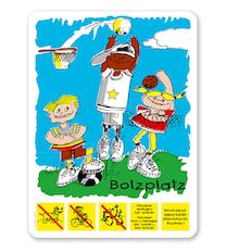 Bolzplatzschild - BP