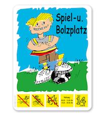 Spielplatzschild Spiel- und Bolzplatz - BP