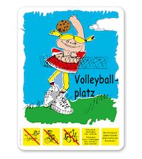 Spielplatzschild Volleyballplatz - BP