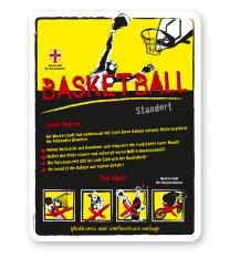 Spielplatzschild Basketball 4P-gelb - DS