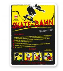 Spielplatzschild Skate - Bahn 4P-gelb - DS