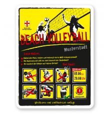 Spielplatzschild Beach Volleyball 8P-gelb - DS