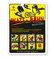 Spielplatzschild Skate - Bahn 8P-gelb - 2 - DS