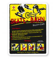Spielplatzschild Skate - Bahn 4P-gelb - 2 - DS