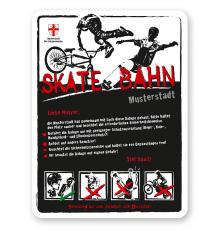 Spielplatzschild Skate-Bahn 4P-weiß - 2 - DS